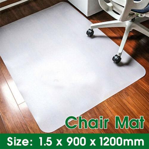 Non Slip Home Office Chair Desk Mat Floor Carpet Protector PVC Plastic Clear