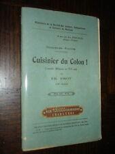 CUISINIER DU COLON ! - Comédie militaire en un acte - Ch. Frot
