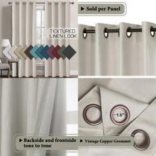 Jenin Houser Solid Room Darkening Thermal Grommet Curtain Panels