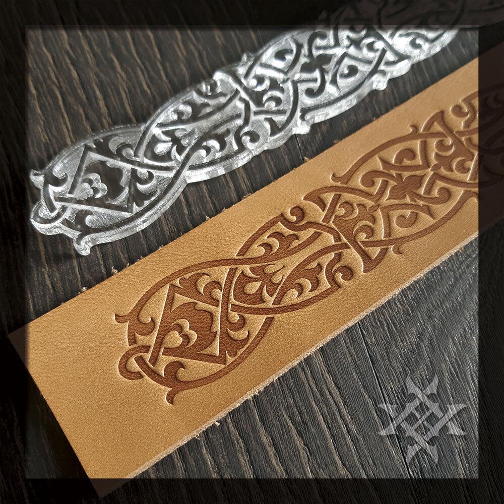 For embossing VegTan Tooling Leather Celtic Belt Embossing Stamp #S-004