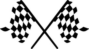 Checkered-Flag-Vinyl-Sticker-Decal-Racing-Stock-Car-F1-Choose-Size-amp-Color