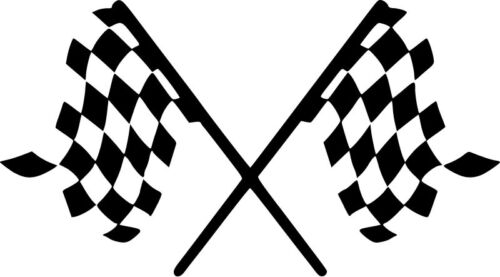 Choose Size /& Color Checkered Flag Vinyl Sticker Decal Racing Stock Car F1