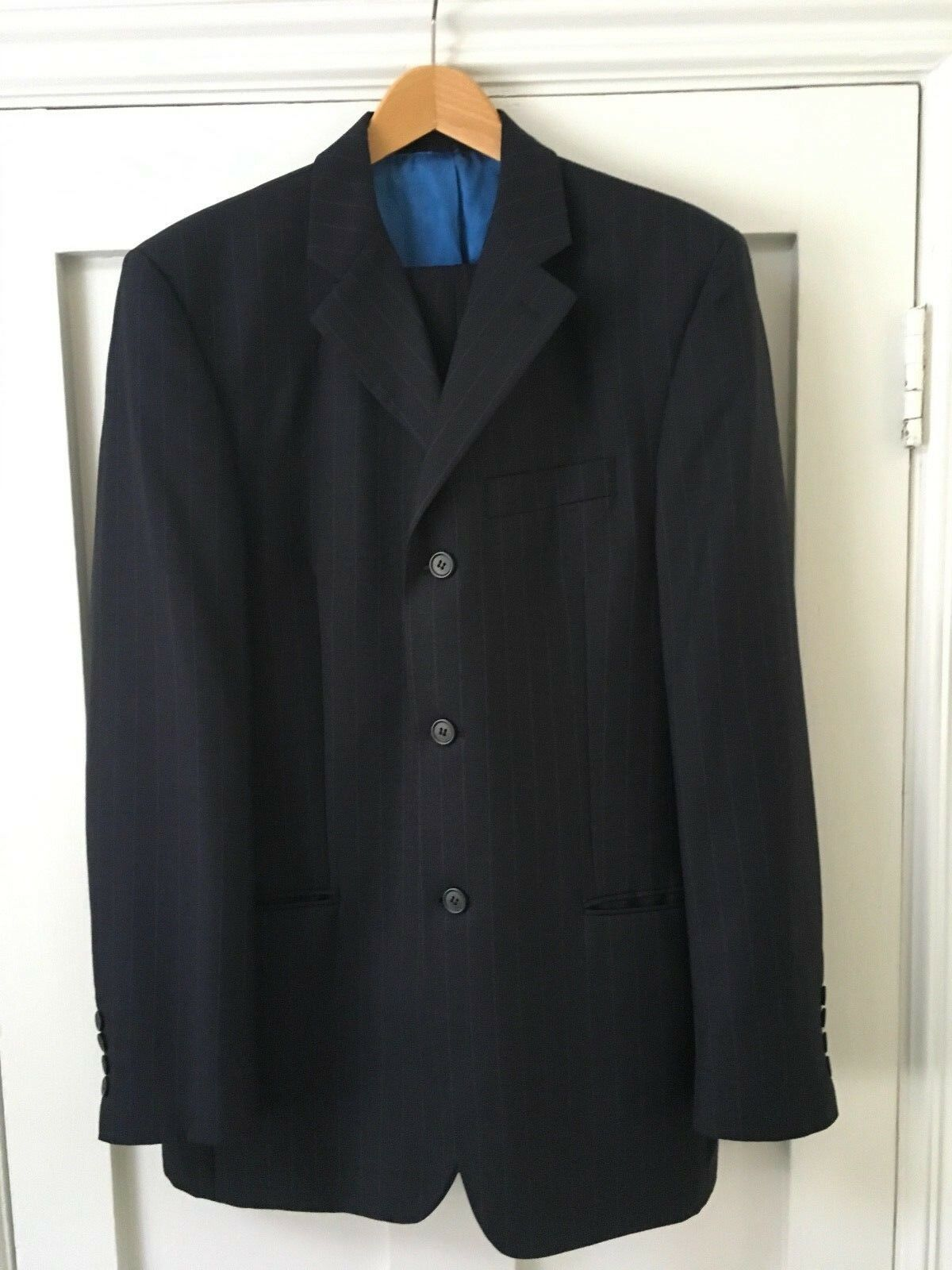 Daniel Hechter, Brand New without tags. Navy mens suit, faint pinstripe