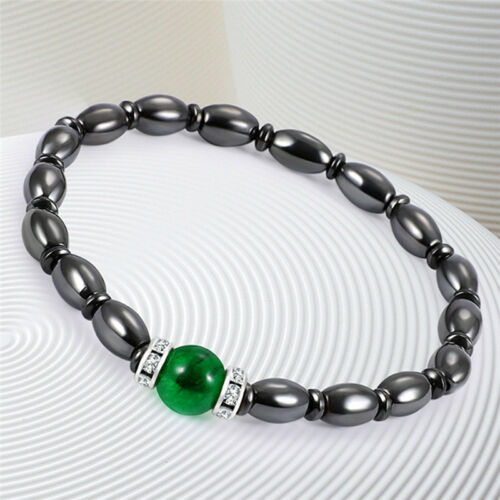 Magnetic Bracelet Bangle BeadsHematite Stone   Health Care Women Jewelry WQ
