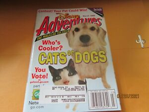 Disney Adventures V90#4 3'99 Magazine Kids book Cats or DOGS HOCKEY pETS RULE