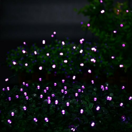 32M 300 LED Purple Solar Fairy Light String Garden Outdoor Party Wedding 8 Modes