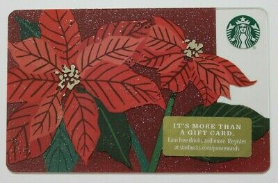 Starbucks Card #6157 Poinsettia RareMarker 2018