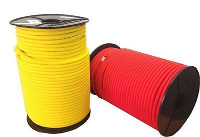 10mm Expanderseil 10m Gummiseil 10 Spiralhaken Gummileine Planenseil Seil Plane in Gelb