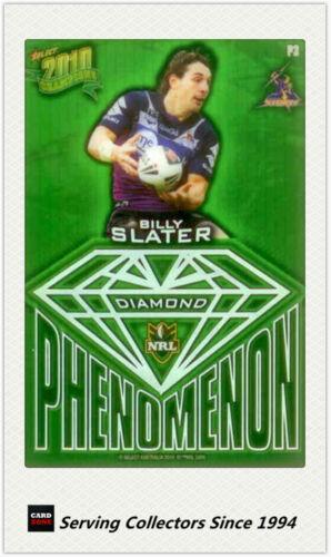2010 Select NRL Champions Phenomenon Diamond Card P3 Billy Slater