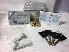 Lot of 2 Abloy Replaceable Cores Keyed Alike With Key Control Card