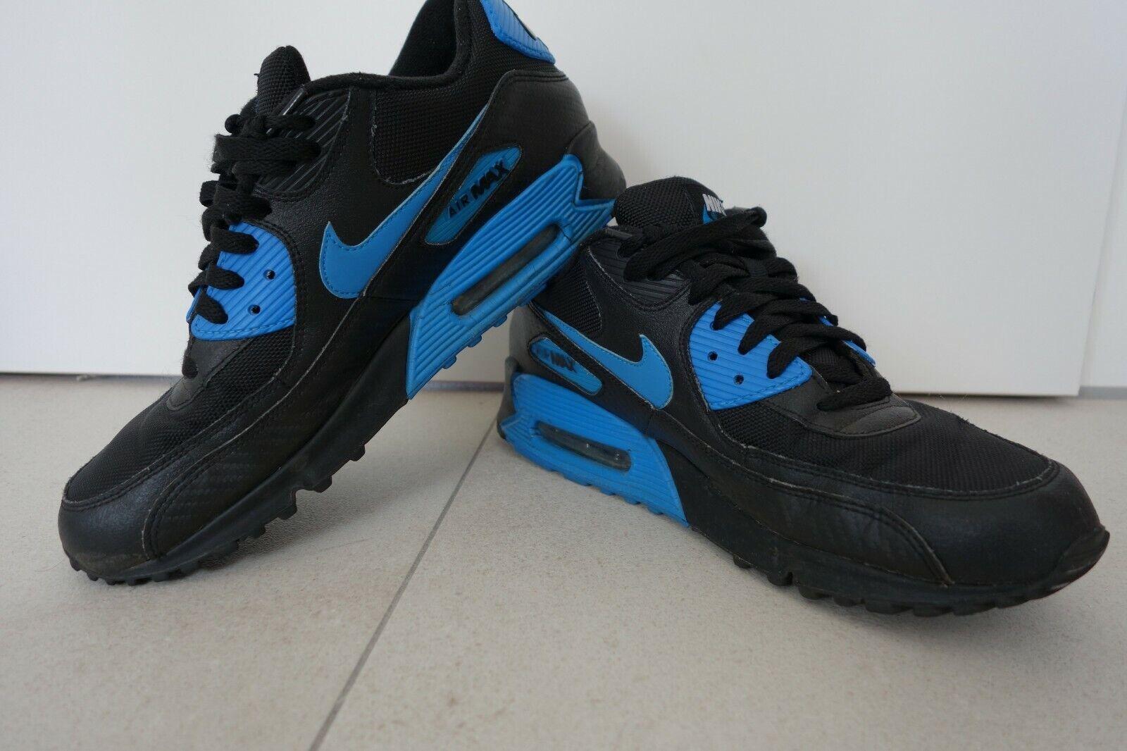 Nike Air Max 90 noir bleu EU 44 us 10 porté