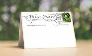 Details about VINTAGE STYLE POSTCARD TENT STYLE WEDDING PLACE CARDS or  TABLE CARDS #122