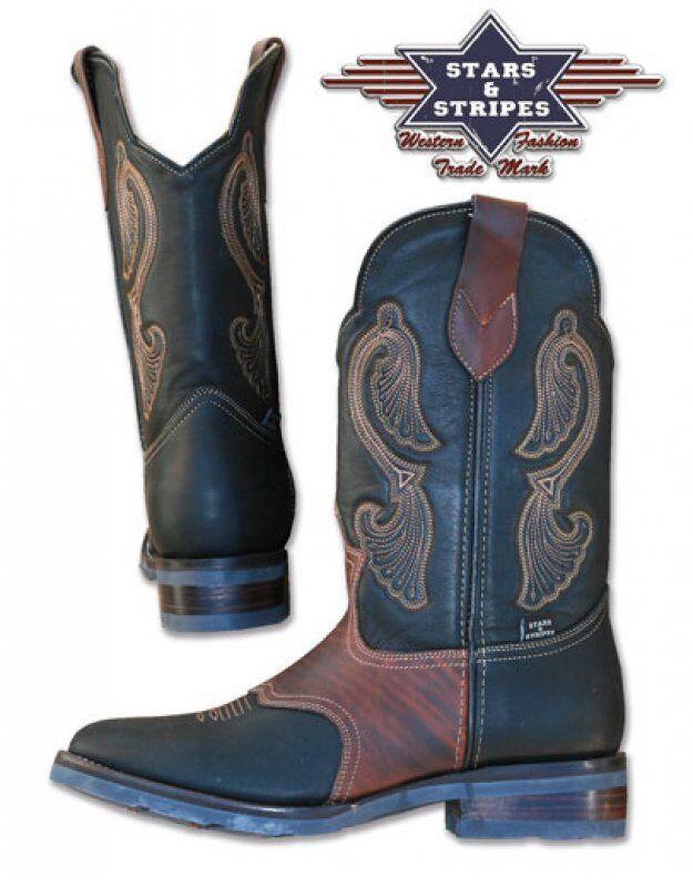 Westernstiefel Stiefel, WB-26, Stars&Stripes, Stiefel, Westernstiefel Cowboystiefel e106c3