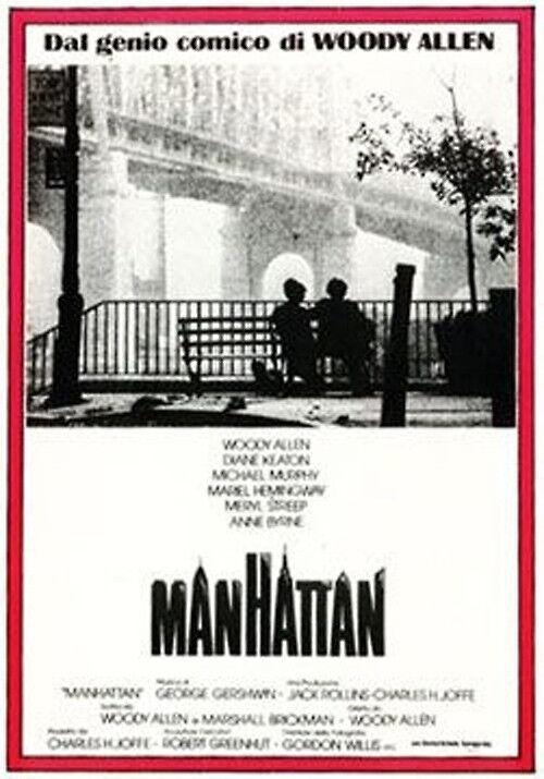 Poster locandina da cinema del film MANHATTAN di Woody Alle, già incorniciato