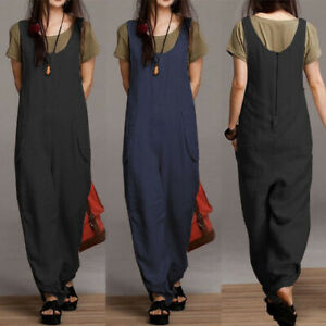 ZANZEA-Womens-Sleeveless-Round-Neck-Casual-Loose-Jumpsuits-Playsuits-Long-Pants