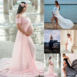 neue niedrigere Preise Super süße sehr schön Details zu Schwangere Kleider Umstandskleid Schwangerschaftskleid  Fotoshooting Bodenlang