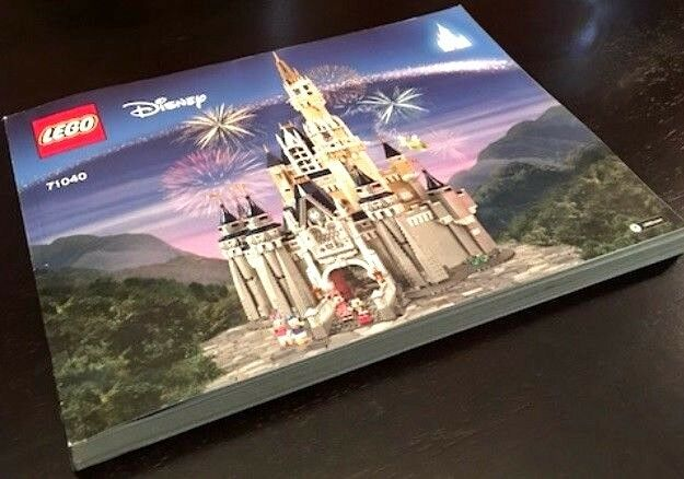INSTRUCTIONS ONLY for LEGO DISNEY CASTLE # 71040 MANUAL only NO PARTS NEW