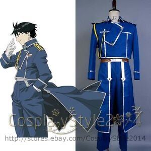 fullmetal alchemist colonel roy mustang cosplay uniform costume