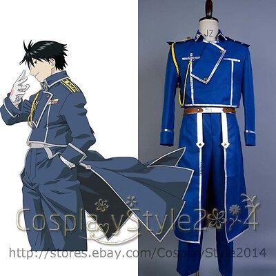 Fullmetal Alchemist Roy Mustang Military cosplay costume MM01
