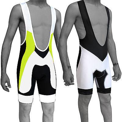 Mens Cycling Bib Shorts Bicycle Tights Shorts Anti-Bac Padding QUALITY