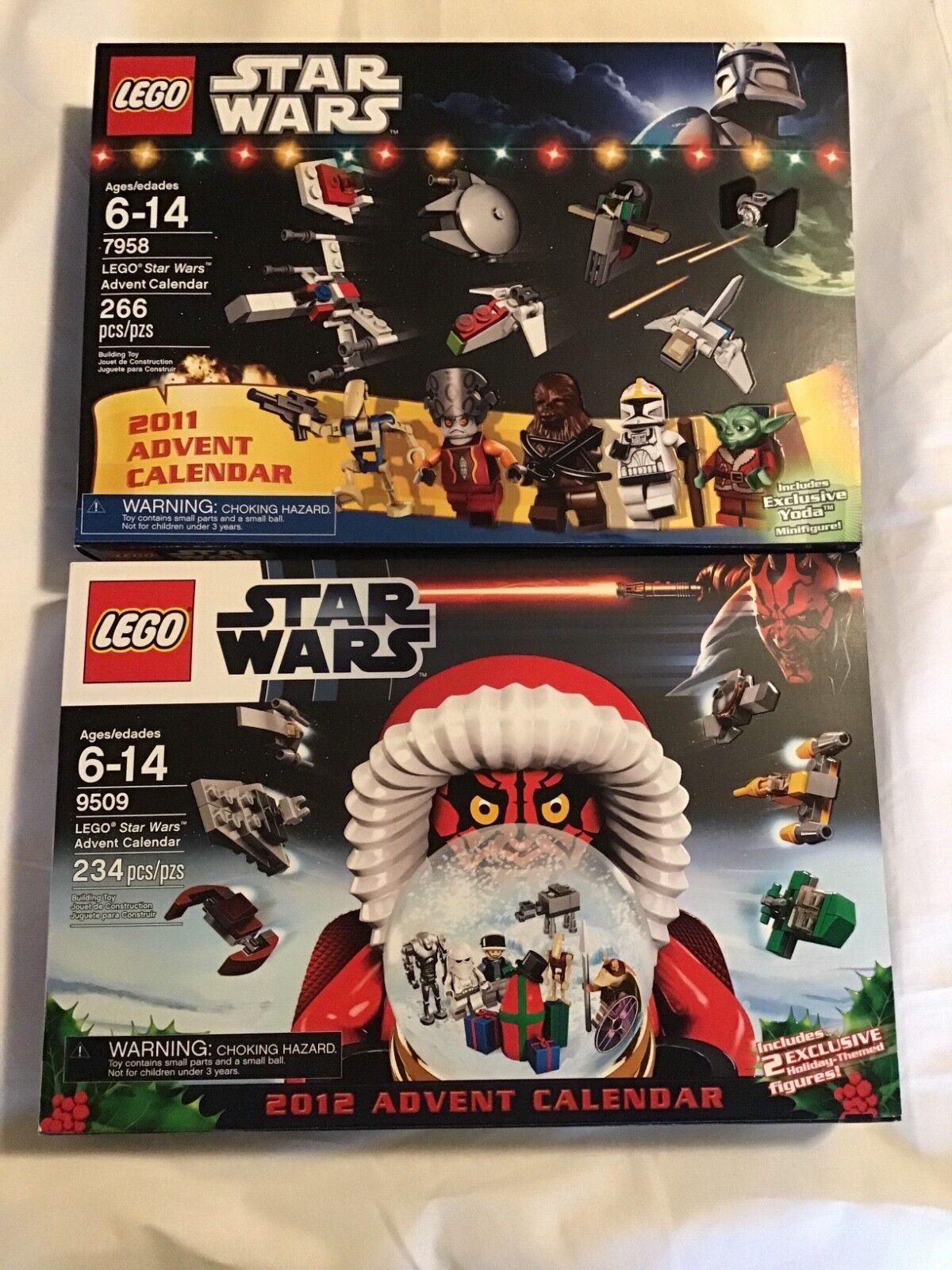 2 Lego Sets Star Wars Christmas Advent Calendar 7958 & 9509 Retirot Brand New