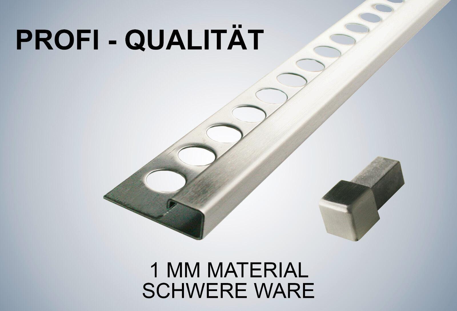 H/öhe: 12,5mm PREMIUM FUCHS Fliesenschiene Viertelkreisprofil Aluminium Eloxiert silber matt 2,5 METER 1mm St/ärke 250cm Schiene