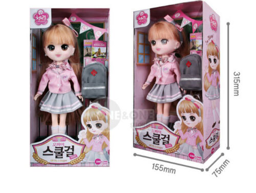 One & One Oh My School Girl Cherry Dolls Baby Kid Toy Korean Charcater Gift
