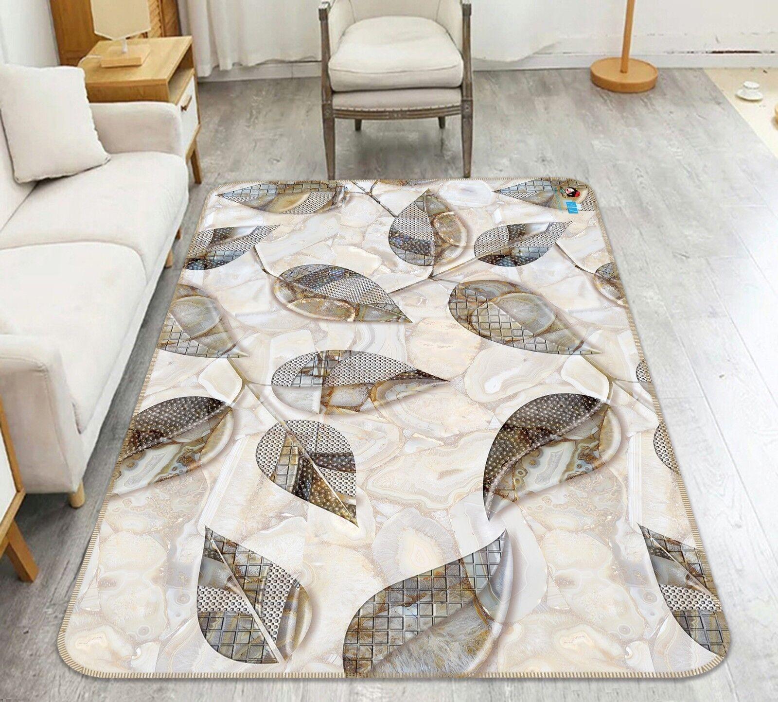 3d hojas de mármol 89 antideslizante alfombra maletero calidad elegante alfombra de