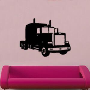 Camion Decal Autocollant Mural Vinyle Art Vintage Camion-afficher Le Titre D'origine Luxuriant In Design