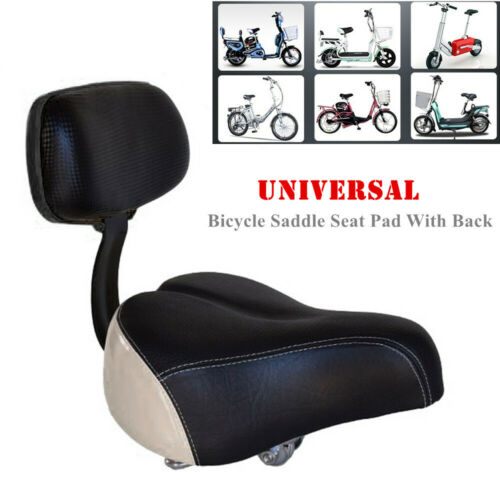 Bicycle Saddle Seat Pad lewith Back Rest Comfortable Universal For Bike Tricyc