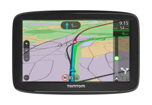 "TomTom Via 52 5"" SAT NAV UK Roi Lifetime Traffic Maps Voice Control Bluetooth"