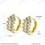 Classic 18k 18ct Yellow Gold Filled GF CZ Hoop Huggie Earrings E-A717 Woman