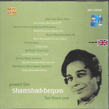 SHAMSHAD BEGUM - GREATEST HITS - HER FINEST EVER - BOLLYWOOD SOUND TRACK CD