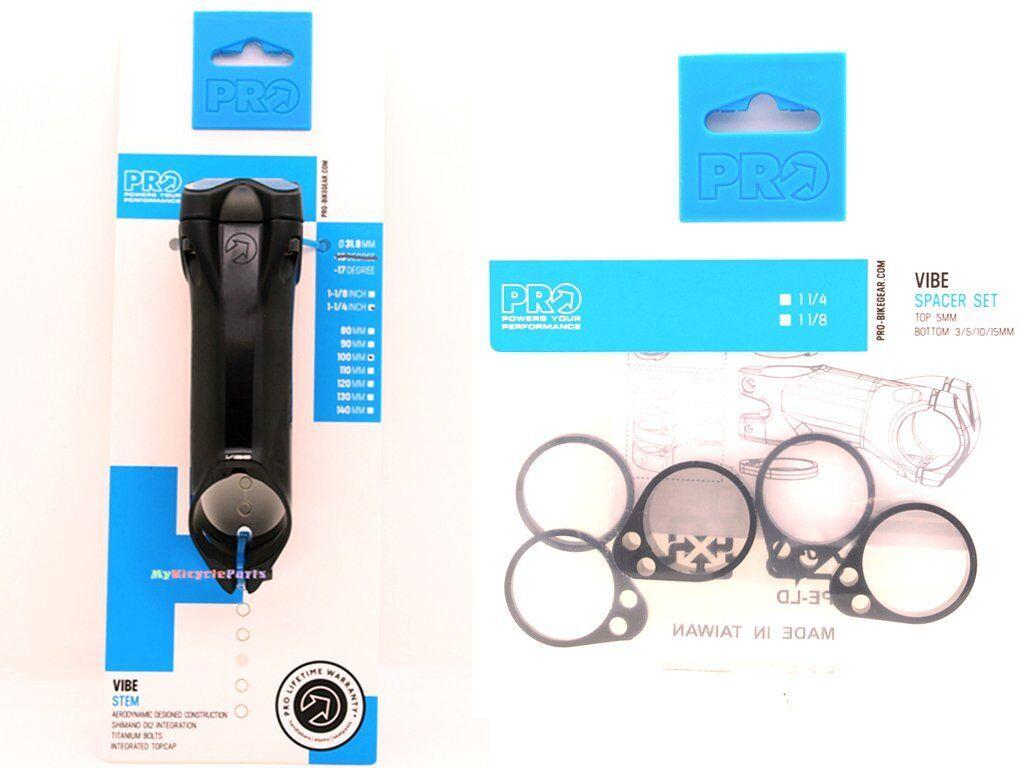 Vástago de aleación Shimano Pro Vibe Di2 -17 ° 1-1 4  100 mm con separadores de T 5, B  3 5 10 15