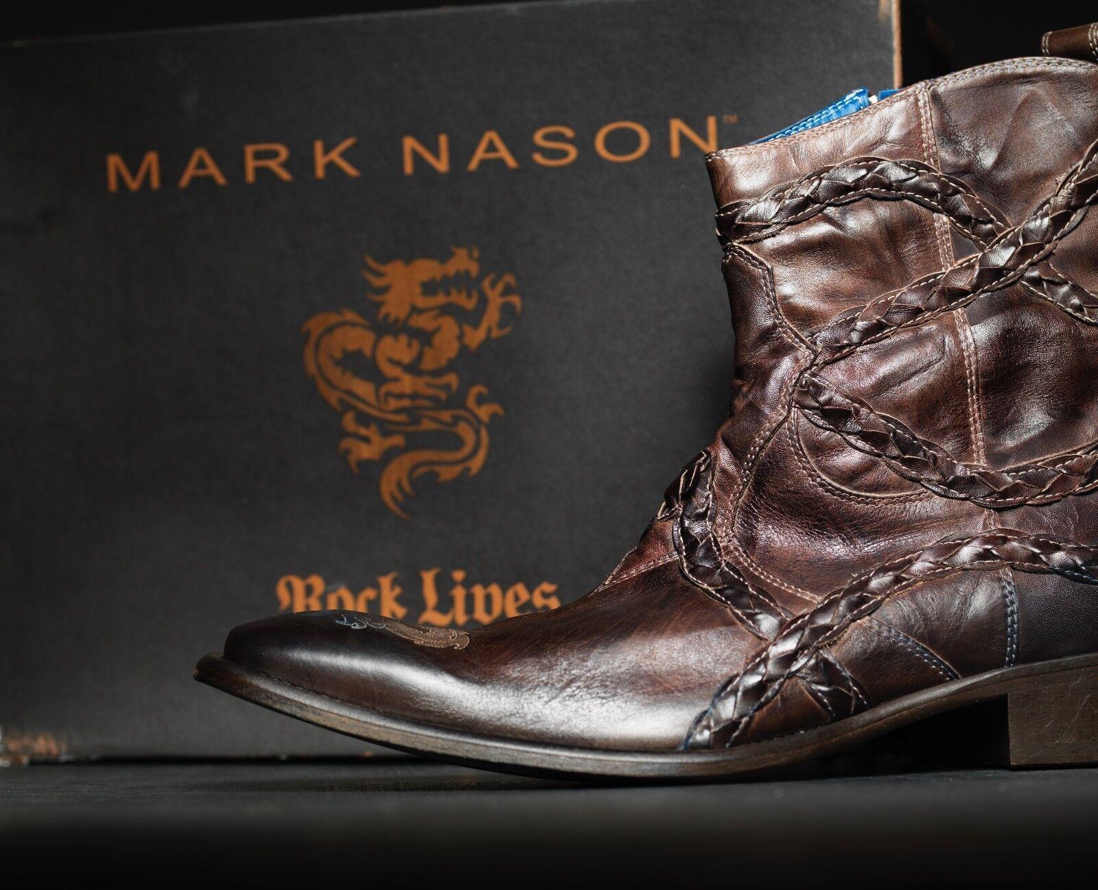 nuevo  Mark Nason Falcon Dragon Rock botas US 10 envejecido marrón ()