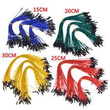 50pcs Dupont Wire Jumper Cable 254mm Male To Female Length15cm20cm25cm30cm