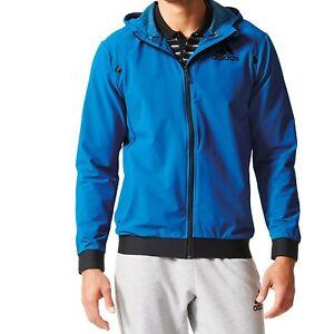 ec2a2adbf3ee Mens New Adidas Zip Hoodie Hoody Track Jacket Tracksuit Top Sports ...