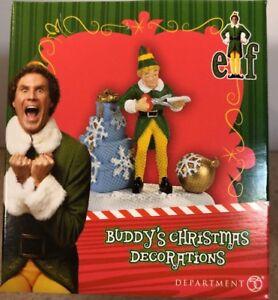 Dept 56 Elf Village Buddy The Elf Christmas Decorations New 2017