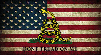 American Flag Don T Tread On Me Gadsden Distressed Vinyl