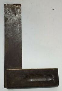 Vintage-6-034-Wood-Brass-Steel-Try-square-with-character
