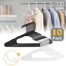 10-40 Pcs Plastic Clothes Hangers Strong Slim Notched Non-Slip Suit//Shirt//Pants