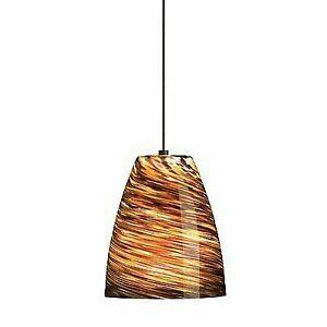 Tiella Lighting Sonya Bronze Low Voltage Monopoint Gl Pendant 800mpsonbz