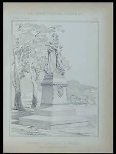 Menton, Monument Commemoratif - Planche 1896 - Vaudremer, Denys Puech