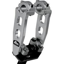 """Rox Speed Fx 5 """"pivotante elevadores para 7/8""""   1 1/8 de pulgada manillar - 1r-p5se - Plata"""