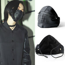 Unisex Motorcycle Zipper Cool Punk Rock Mask Anti Dust Leather Face Mouth Mask