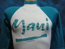 vintage 80s MAUI HAWAII RAGLAN JERSEY T-Shirt XXS surf skate beach soft thin