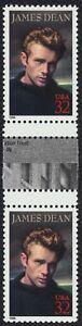 #3082 32c James Dean, Horizontal Gutter Par [1 ], Nuevo Cualquier 5=