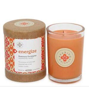 Root Candles Seeking Balance6.5oz 50 hr burn eco soyorange Energize rosemary eu