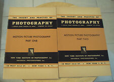 """VTG ca. 1940's NEW YORK INSTITUTE Booklets/COURSE~""""MOTION PICTURE PHOTOGRAPHY""""~"""