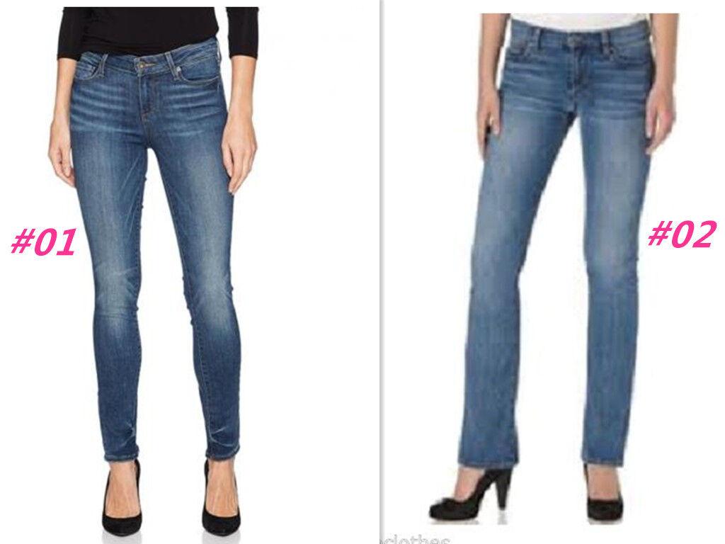 Paige Women's Jimmy Skinny Hidden Hills Straight Denim bluee Jeans Size 26, 28  P